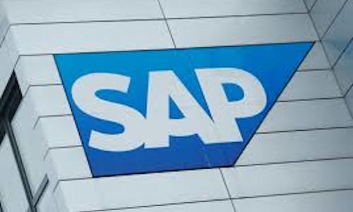 SAP logo at SAP headquarters